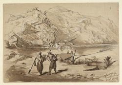 Scene at Bhimnoda near Hardwar (U.P.). February 1847